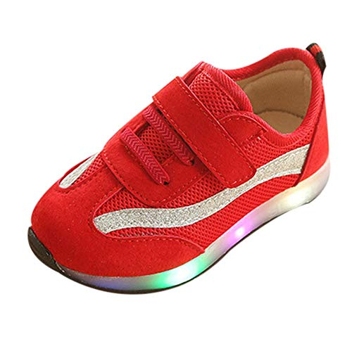 HYIRI Mesh Led Luminous Shoes,Children Baby Girls Boys Striped Sport Running Sneaker Shoes