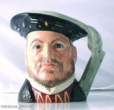 Toby Doulton Jugs Character Royal - Royal Doulton Toby Jug Character Jug Henry VIII D6642