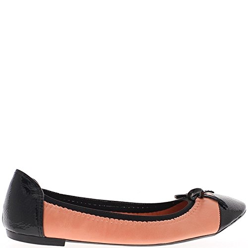 Ballerinas coral and black varnished bi material J9qKicoJ