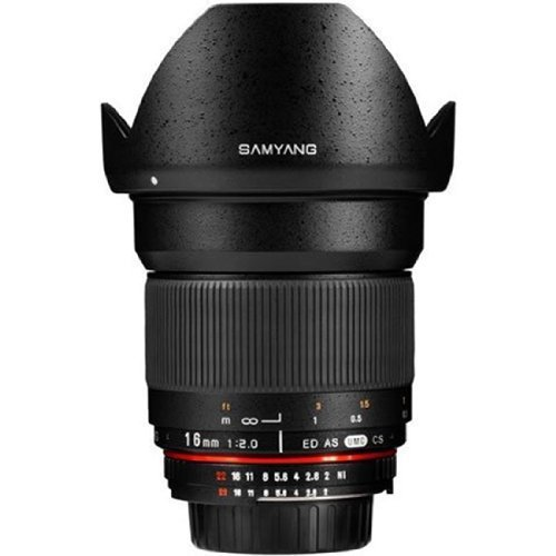 Samyang SY16M-S 16mm f/2.0 Aspherical Wide Angle Lens for Sony Alpha Cameras Style: Sony Alpha, Model: SY16M-S, Electronics & Accessories Store by Electronics World