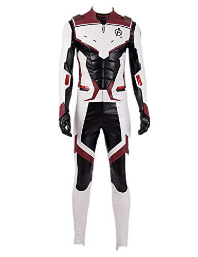 PONGONE Superhero Jumpsuit Advanced Tech Cosplay 3D Muscle Bodysuit Halloween Costume XL