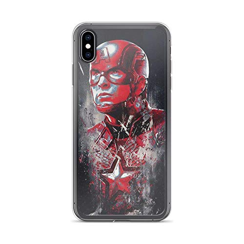 iPhone Xs Max Pure Anti-Shock Case Avengerss Endgame Captain Shield America Red Steve Rogers Stan Lee Avengerss Movie Shield Comic Superhero (Guardians Of The Galaxy Captain America Shield)