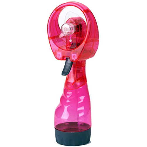 Price comparison product image Fullfun Portable Fashion Mini Water Spray Cooling Fan Travel Gift Mist Fan (Red)