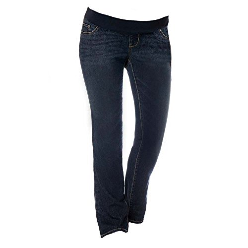 LizLang Maternity Low Rise Bootcut Jeans for Women Pregnancy Pants with Stretch Panel Cute & Sexy ()