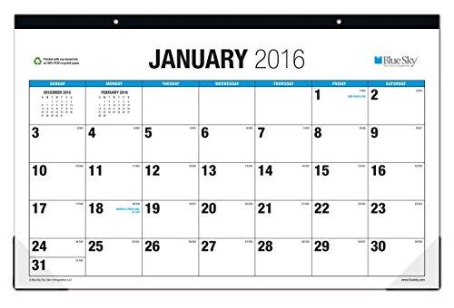 Blue Sky 2016 Desk Pad 17 Quot X 11 Quot The Big Picture
