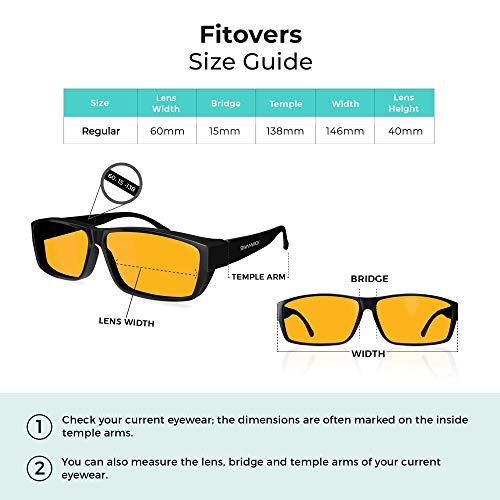 f25dd6f1b8 Swanwick Sleep Fitover Blue Light Blocking Glasses and Computer Eyewear - Wear  OVER your Prescription Glasses