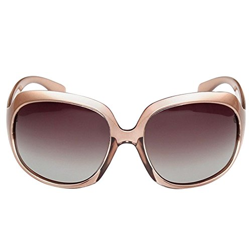 MOTINE LUFF Women's Oversized Champagne Fashion Sunglasses by Polarized UV400 Sunglasses LUFF EUwIxUqr