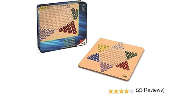 Cayro - Damas Chinas Madera Metal Box - Juego de Mesa Tradicional - Juego para niños - Juego de Mesa (750): Amazon.es: Juguetes y juegos