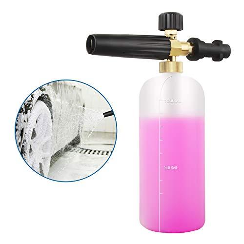Adjustable Foam Cannon 1 Liter Bottle Snow Foam Lance Soap Dispenser Nozzle for Karcher K Series K2/K3/K4/K5/K6/K7 Pressure Washer