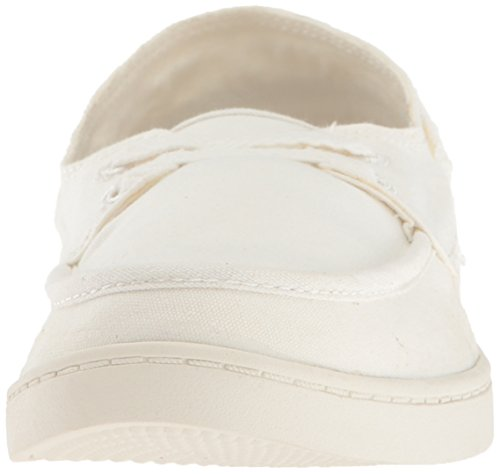 Sanuk Womens Pair O Sail Boat Shoe, White, 10 M US