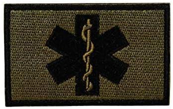 Cobra Tactical Solutions Paramedic Star of Life Embroidery Parche Bordado Táctico Moral Militar con Cinta adherente de Airsoft Paintball para Ropa de Mochila Táctica: Amazon.es: Hogar