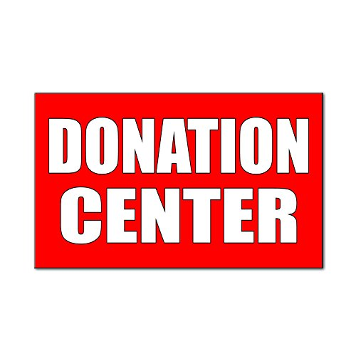 Donation Center Style 2 Car Door Magnets Magnetic Signs Qty 2   9 X 12 Inches