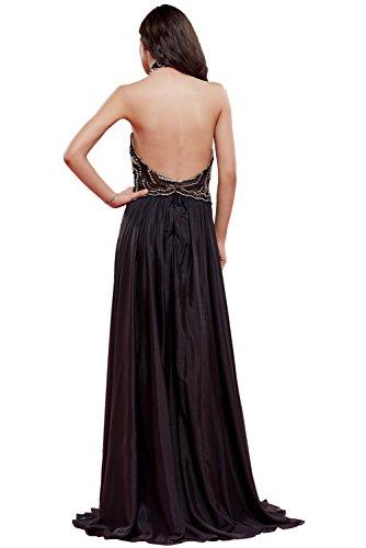A Linie Missdressy Lang Rueckenfrei Steine Abendkleid Damen Chiffon Partykleid D Style 7rqwxqAYX