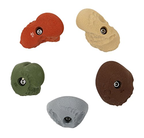 5 Limestone Roof Jugs Set #2 | Climbing Holds | Mixed Earth Tones by Atomik Climbing Holds