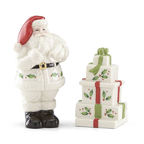 Lenox 879343 Hosting the Holidays Salt & Pepper, Multicolor - Lenox Christmas Gifts