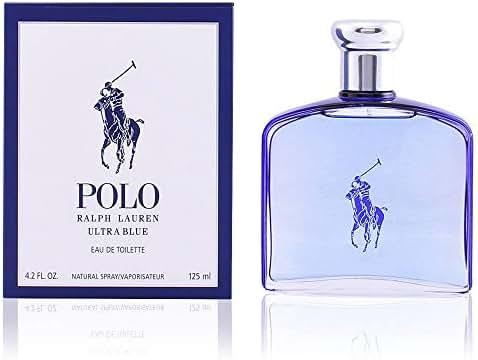 Ralph Lauren Polo Ultra Blue Men Eau de Toilette Spray, 4.2 Ounce