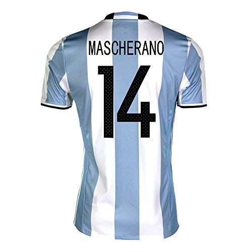 枯渇個人的な大工Mascherano #14 Argentina Home Soccer Jersey Copa America Centenario 2016/サッカーユニフォーム アルゼンチン ホーム用 マスチェラーノ 背番号14