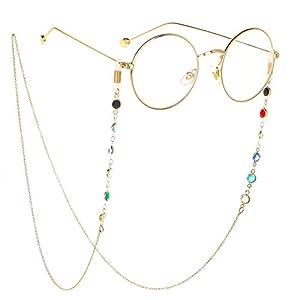 HUA JU Eyeglass Chains for Women Glasses Reading Glasses Cords Glasses Holder Strap Lanyards Eyewear Retainer