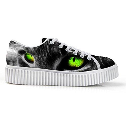 Idea Abbracci Gatto Faccia Stampa Casual Sneakers Piattaforma Punta Rotonda Scarpe Basse Gatto Faccia 1