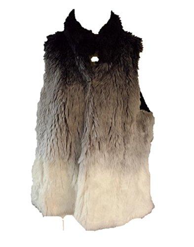 INC Faux Fur Knit Vest XL Extra Large