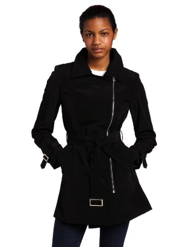 Ak Anne Klein Womens Asymmetrical Trench