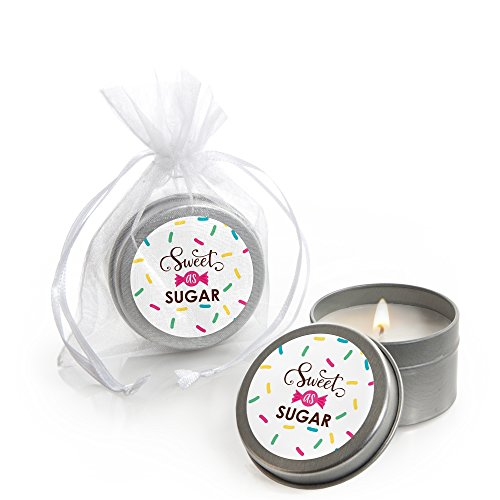 (Sweet Shoppe - Candle Tin Candy and Bakery Birthday Party or Baby Shower Favors - Set of 12)