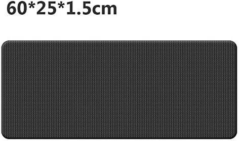 Eco friendly 初級ビジネス環境体操マット用60cmx25cmx1.5cmのNBRヨガマット滑り止めカーペットピラティスジムスポーツエクササイズパッド exercise (色 : Black)