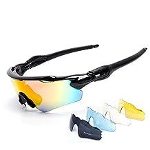 Cuzaekii 5 Lente Polarizado Ciclismo Gafas UV400 Intemperie Deportes Gafas de sol para Hombres Mujeres Cycling Glasses Eyewear