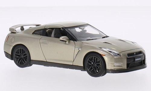 Nissan GT-R (R35) 45th anniversary gold Edition, gold, RHD, 2015, Model Car, Ready-made, Premium X 1:43