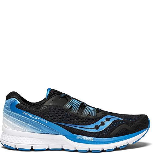 Saucony Men's Zealot ISO 3 Running Shoe, Black/Blue, 11 Medium US