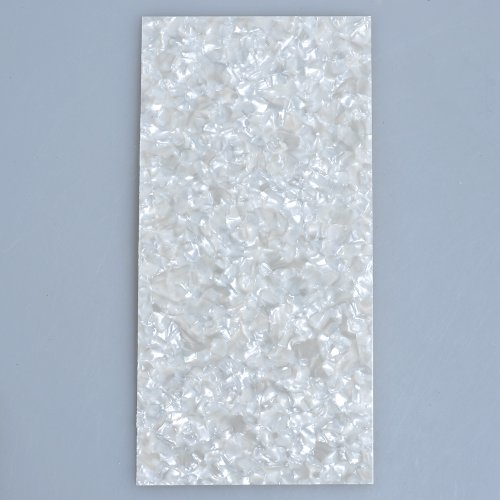 (Kmise MI0305 White Pearl Celluloid 20cm x 10cm Guitar Head Veneer Shell 0.75mm Thick)