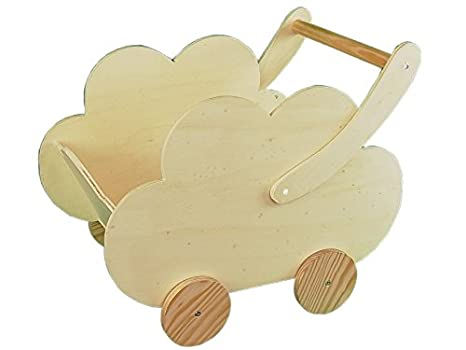 Greca Carro Infantil Madera. En Forma de Nube. En Crudo, para Pintar. Medidas (Ancho/Fondo/Alto): 50 * 30 * 43 cms.: Amazon.es: Hogar