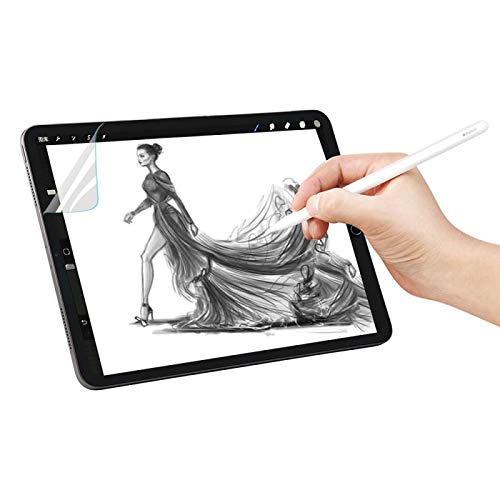 [2 Pack] ipad pro 10.5 Screen Protector, Paper-Like Screen Protector Compatible with Apple iPad Pro 10.5 and iPad Air 3 (2019) 10.5 inch/Apple Pencil Compatible/Premium PET Film (Not Glass) ()