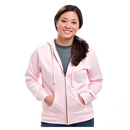 Tultex 311 80/20 8 oz. Juniors Full-Zip Hoodie Jacket, Pink, Large