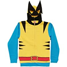 Marvel Wolverine Costume Hoody Sweatshirt, Yellow, X-Large