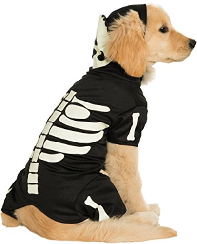 Rubie's Pet Costume, Large, Glow in The Dark Skeleton Hoodie -