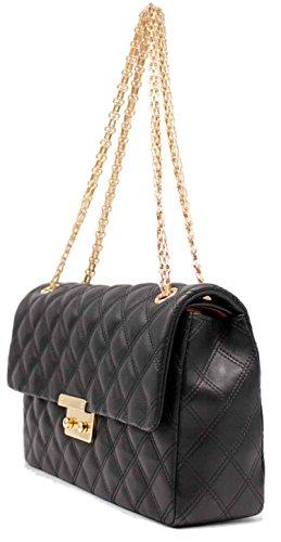 78aed2727e77b Tom   Eva gesteppte Handtasche Schultertasche Sloan Large 15C-1145 aus  weichem Vegan Leder in ...