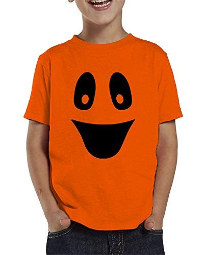 (SpiritForged Apparel Ghost Face Halloween Toddler T-Shirt, Orange)