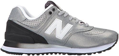 New 574 Argento Sneaker Donna Black Balance Silver qq5wrZR