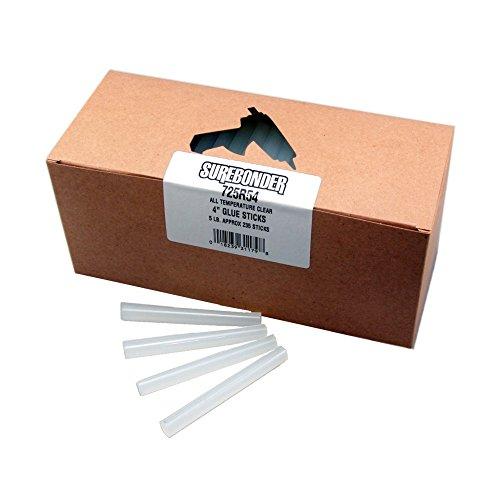 Surebonder 725R4  All Temperature Standard Glue Sticks, Made in the USA, 7/16'' x 4'' Length, 25 lb. Box, Clear, 1125 Sticks (Pack of 1125) by Surebonder