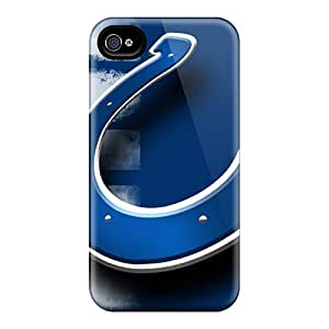 Perfect Hard Cell-phone Cases For Iphone 4/4s With Customized Colorful Indianapolis Colts Skin JasonPelletier hjbrhga1544