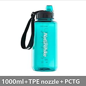 Botella Del Agua Deporte 750Ml/1000Ml Botellas Agua Deporte Eco-Friendly De Plastico Sin BPA Reutilizables Tritan Niños Deportes Yoga Senderismo Viajes Oficina,Blue,750Ml
