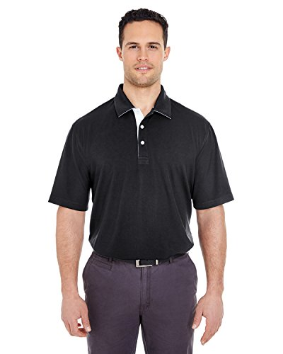 A Product of UltraClub Men's Platinum Performance Birdseye Polo with TempControl -