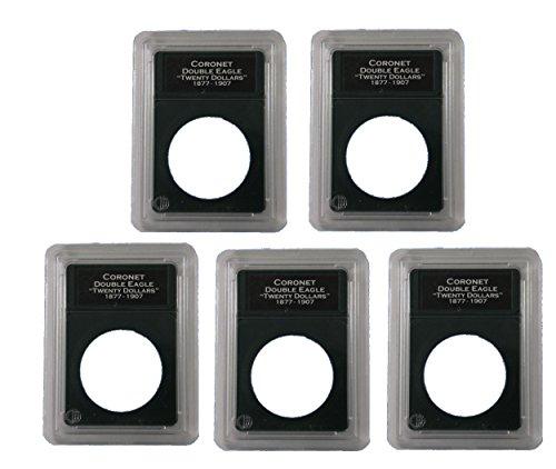 Double Eagle Coin - 5 Pak Premier Slab Style Coin Holder Double Eagle $20 Gold Piece Labels