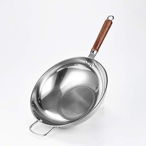 QWERASD Utensilios de Cocina de 32 cm Olla Antiadherente Wok ...