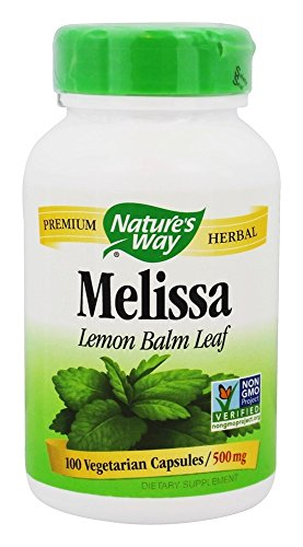 Natures Way 100 Vegetarian Capsules - Nature's Way - Melissa Lemon Balm Leaf 500 mg. - 100 Vegetarian Capsules