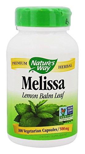 Nature's Way - Melissa Lemon Balm Leaf 500 mg. - 100 Vegetarian - Melissa Leaves