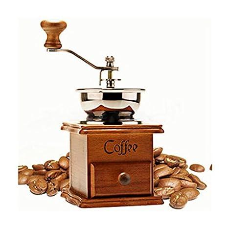 XuBa Molinillo de café Manual de Estilo Vintage, de Madera, Estilo Retro, máquina de moler: Amazon.es: Hogar