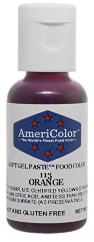Price comparison product image Americolor Soft Gel Paste Food Coloring,  Orange,  .75 oz