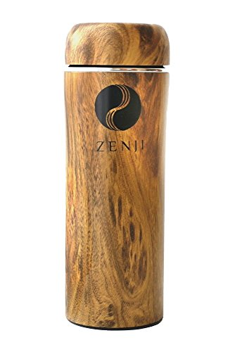 Zen Bamboo Thermos for Tea or Coffee by Zenji | Stainless St